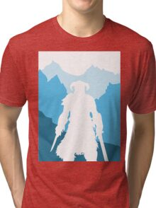 Dragonborn -  Blue Tri-blend T-Shirt