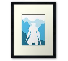 Dragonborn -  Blue Framed Print
