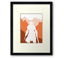 Dragonborn - Orange Framed Print