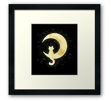 Cat Moon Framed Print