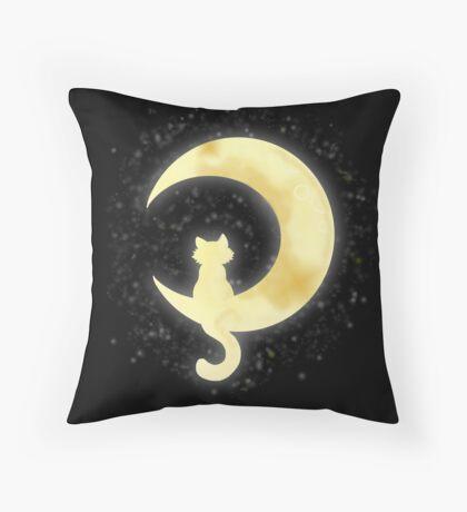 Cat Moon Throw Pillow
