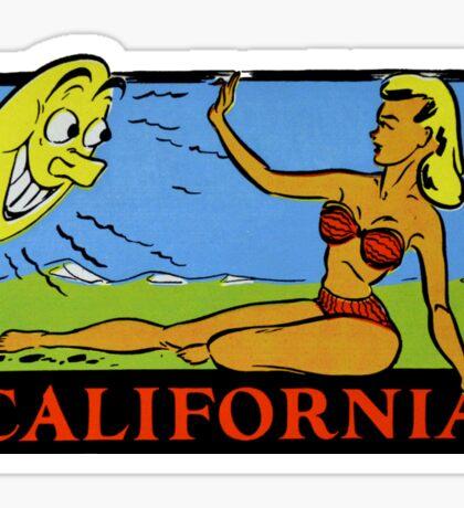 California Sun Vintage Travel Decal Sticker
