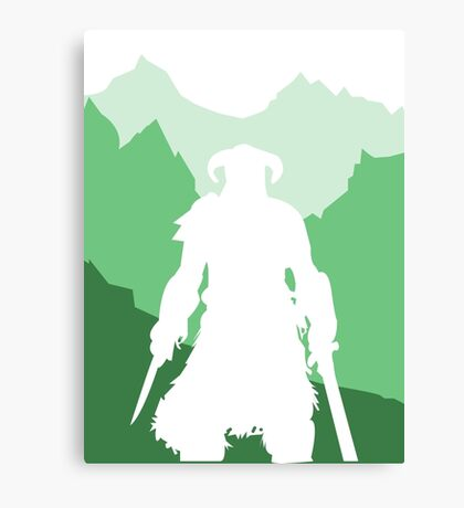 Dragonborn - Green Canvas Print