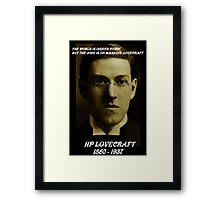 HP LOVECRAFT IN  MEMORY Framed Print