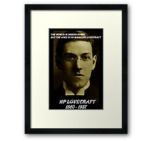 HP LOVECRAFT IN  MEMORY Framed Print