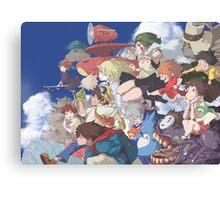 Hayao Miyazaki - Studio Ghibli - Character Collaboration Canvas Print