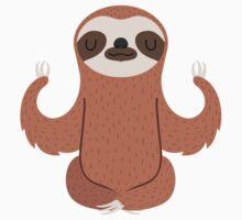 Sloth doing yoga Kids Tee