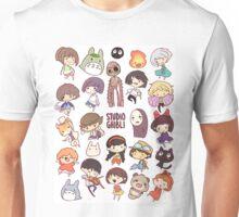 Hayao Miyazaki - Studio Ghibli - Chibi Characters Unisex T-Shirt
