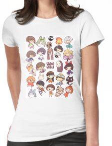 Hayao Miyazaki - Studio Ghibli - Chibi Characters Womens Fitted T-Shirt