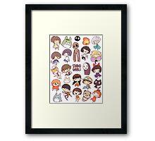 Hayao Miyazaki - Studio Ghibli - Chibi Characters Framed Print