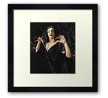 VAMPIRA EYES Framed Print