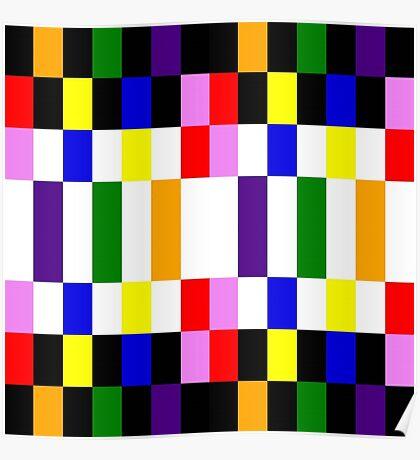 Rainbow blocks Poster