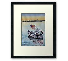 Three in a boat Framed Print