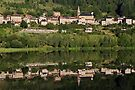 Saint Martial village reflected on the lake by Patrick Morand