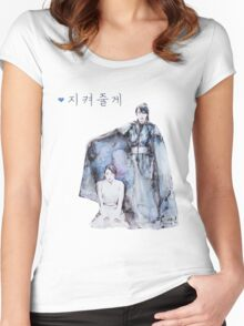 Moon Lovers - I will protect you Women's Fitted Scoop T-Shirt