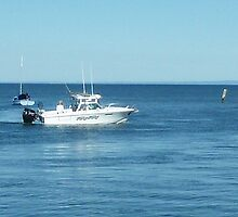 A large boat on its way out to sea for some fishing- Werribee Sth. by EdsMum