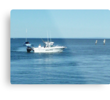 A large boat on its way out to sea for some fishing- Werribee Sth. Metal Print