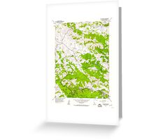 USGS TOPO Map California CA San Geronimo 300076 1954 24000 geo Greeting Card