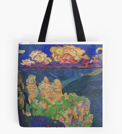 The 3 Sisters, Blue mountains Tote Bag