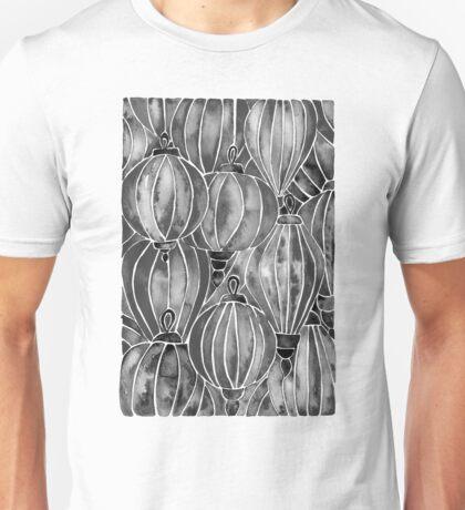 Black Vietnamese Lanterns Unisex T-Shirt