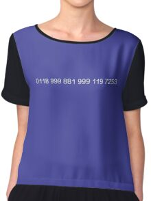 The New Easy-to-Remember Emergency Service Number: 0118 999 881 999 119 7253 - The IT Crowd Chiffon Top