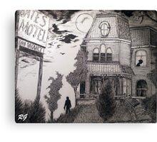 Creepy psycho Inspired Drawing Canvas Print