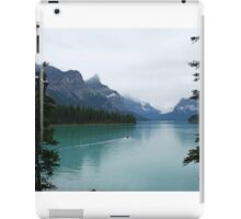 Canoeing into the unknown, Maligne Lake iPad Case/Skin