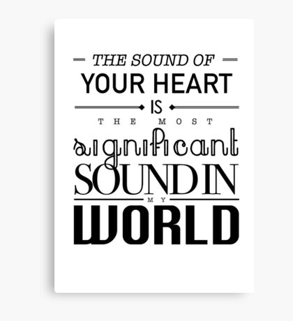 Twilight Cullen The Sound of Your Heart Canvas Print