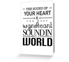 Twilight Cullen The Sound of Your Heart Greeting Card