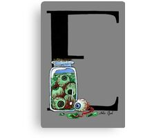 E is for Eyeballs Watercolor Painting Canvas Print