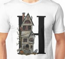 H is for Haunted House Watercolor Painting Unisex T-Shirt