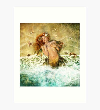 Washed Ashore - Mermaid Art Print