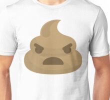 Emoji Poo or Poop Angry and Mean Look Unisex T-Shirt