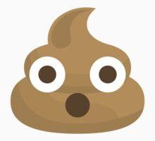 Emoji Poo or Poo Surprisingly Shocked One Piece - Short Sleeve