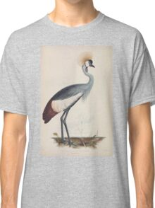 Gleanings from the menagerie and aviary at Knowsley Hall Edward Lear John Gray 1850 007 Wattled Crown Crane Classic T-Shirt