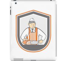 Butcher Chopping Ham Shield Cartoon iPad Case/Skin