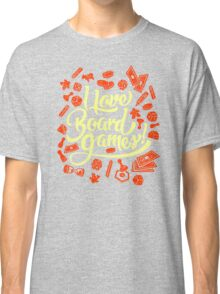 I Love Board Games Classic T-Shirt