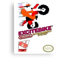 EXCITEBIKE NES RETRO GAMING SHIRT Canvas Print