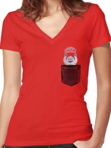 bumble the abominable snowman  Women's Fitted V-Neck T-Shirt