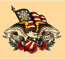 Made in USA American Patriotic Eagle  Photographic Print