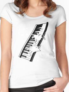 music man keyboard Women's Fitted Scoop T-Shirt
