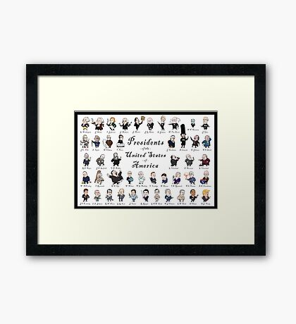 Presidents of the USA 2016 Update Framed Print