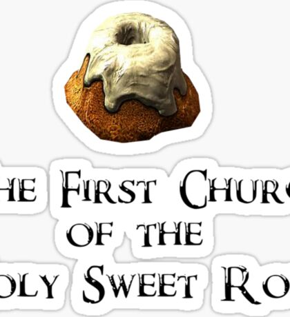 First Church of the Holy Sweet Roll Sticker