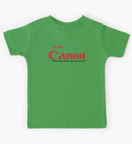 Team Canon! - why nikon when you can CANON. Kids Tee