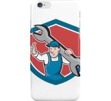Mechanic Thumbs Up Spanner Shield Cartoon iPhone Case/Skin