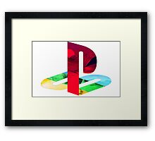 Playstation Logo Vaporwave Framed Print