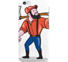 LumberJack Holding Axe Cartoon iPhone Case/Skin