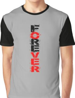 FOREVER black and red LOGO Graphic T-Shirt