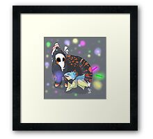 Rave with me! Framed Print