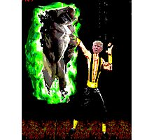 harambe vs trump in mortal kombat Photographic Print